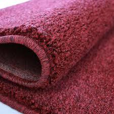 hochwertiger kurzflor wohnzimmerteppich in dunkel rot my181