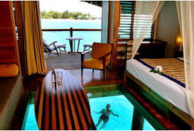 Hut On The Water In Bora With A Glass Bottom So You Can See Resorts Floors