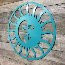 Sun Moon Outdoor Art Pool Custom Metal Wall