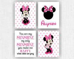 Mickey And Minnie Mouse Bath Decor by Instant Download Mickey Bathroom Wall Art Wash Brush Floss