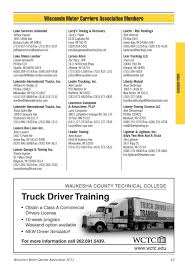 Wisconsin Motor Carriers Association Membership Directory 2012