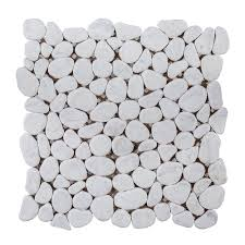 Jeffrey Court Mosaic Tile by Jeffrey Court Winter Court Pebble 12 In X 12 In X 10 Mm Honed
