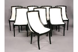 Empire Dining Chairs Set Of Eight Stylish French Style With Frames Circa American