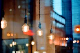 light bulbs shop window city free stock photo negativespace