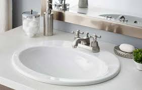 Install Overmount Bathroom Sink by Cheviot Drop In Bathroom Sinks