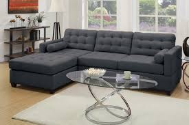 Poundex 3pc Sectional Sofa Set by Poundex F7587 Grey Fabric Sectional Sofa Steal A Sofa Furniture
