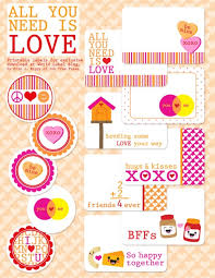I Love These Joyful Valentines Day Labels Along With Some Other Printables For Your Projects