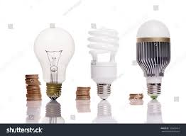 money spent different types light bulbs stock photo 129542414