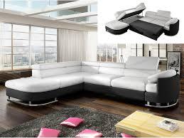 canape d angle noir et blanc canapé d angle droit ou gauche simili blanc et noir mysen