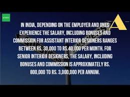 Interior Decorator Salary In India by What Is The Salary Of An Interior Designer In India Youtube
