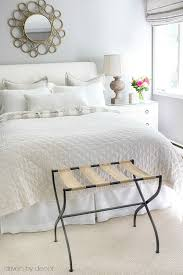 Guest Bedroom In Neutrals With Luggage Rack