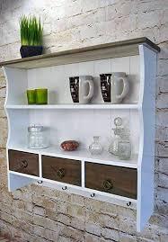 livitat küchenregal wandregal 60 x 67 cm regal wandschrank hängeregal weiß holz shabby vintage retro lv1066