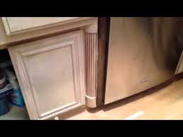 antique gel stain glaze over white wash cabinets youtube