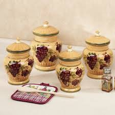 Grape Canister Sets Kitchen Handpainted Grapes Set