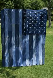 Denim Jean Rag Flag Quilt
