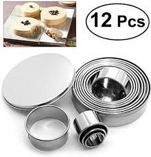 bestomz runde form gebäck schneider kuchen plätzchen plätzchen plätzchen satz edelstahl diy backform 12 pack