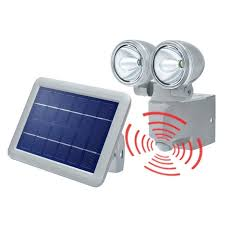 projecteur solaire détection de mouvement duo power ii spot
