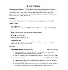 Sample Front End Developer Resume Full Stack Developer Resume Word