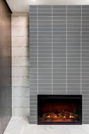 mcm look fireplaces subway tiles glass and modern