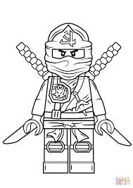 Ninja Coloring Pages Lego Ninjago Green Page Free Printable Line Drawings