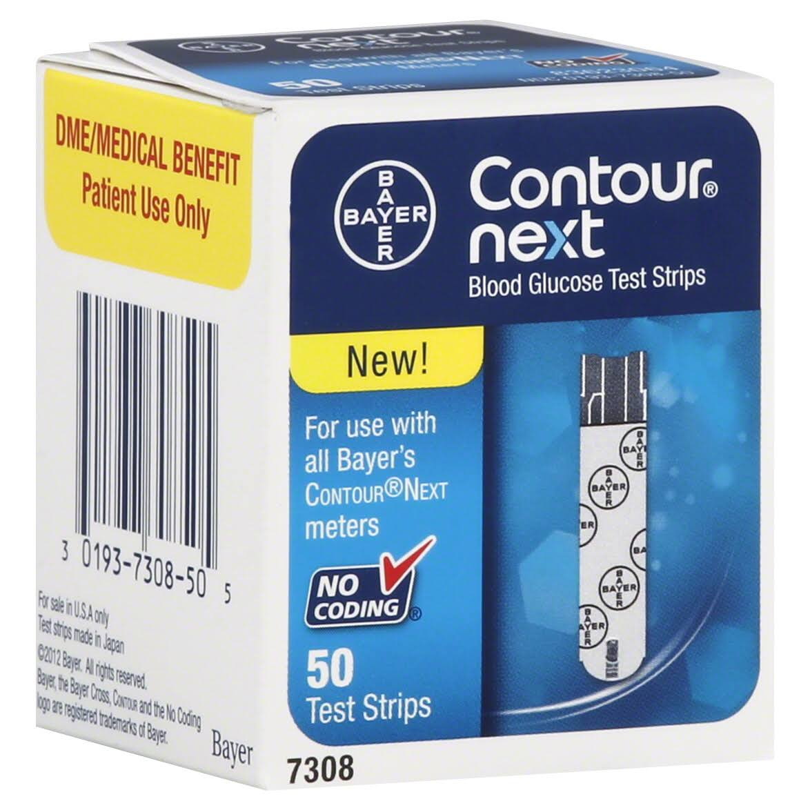 Bayer Contour Next Blood Glucose Test Strips - 50 Test Strips
