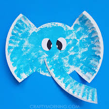 Paper Plate Elephant Craft 2