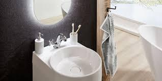 bad set mit waschbecken 40 cm weiß hochglanz ida