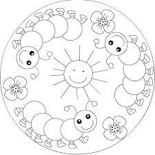 Spring Mandala Coloring Page