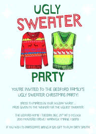 Ugly Sweater Party Invitations Holiday Invitation Template