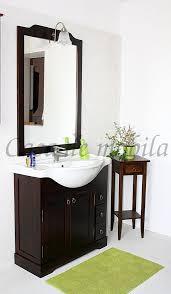 badmöbel set 85x195x49cm aqua pappel massiv kolonialfarben lackiert casade mobila