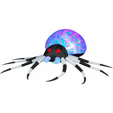 Halloween Blow Up Decorations by 3 U0027 Projection Airblown Inflatables Kaleidoscope Black White Spider
