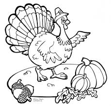 Coloring Pages Thanksgiving Free Printable Turkey Pictures Color Large Size