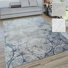 wohnzimmer teppich vintage optik in modernen grau tönen geometrische muster