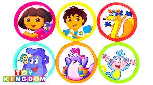Dora The Explorer Kitchen Set by Nick Jr Dora The Explorer Learn Colors Play Doh Eggs Toy