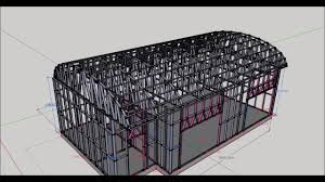 104 Bowstring Truss Design Beautiful For Warehouses In Framebuilder Mrd For Sketchup Roof Roof Es Container House Plans