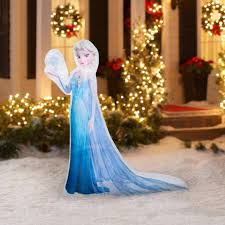Disney Halloween Airblown Inflatables by Amazon Com Christmas Inflatable 5 U0027 Led Photoreal Elsa Disney