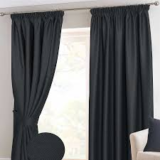 Thermal Lined Curtains Ireland by Herringbone Chevron Thermal Blackout Ready Made Curtains Pair