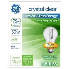 ge 75 watt energy efficient halogen light bulb 2 pack soft