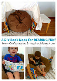 A Simple DIY Book Nook For Kids Reading Fun At B Inspired Mama
