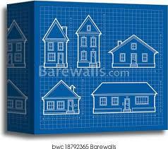 Blueprints House House Blueprints Canvas Print