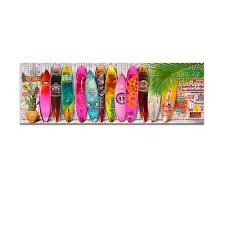 Decorative Surfboard Wall Art by 2018 Bright Color Summer Surfboard Canvas Art Modern Surfing