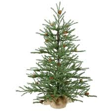 8ft Christmas Tree Ebay by Vickerman Carmel Colored Pine Tree With Cones And 684 Tips Burlap