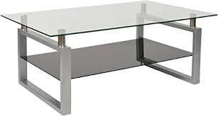 ts ideen design hartglas wohnzimmer glastisch glas beistell tisch edelstahl hochglanz ablage schwarz 8 mm esg sicherheitsglas 109 x 69 cm