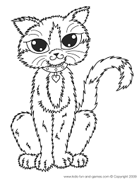 Cat Color Pages Printable