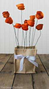 Easy Steps And Supplies Burlap Vase Holder With Paper Flowers