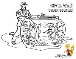 Union Flag During Civil War Coloring Pages