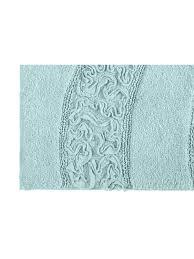 heine home 1x badteppich badvorleger mit rüschen applikation microfaser mint ca 75 rund