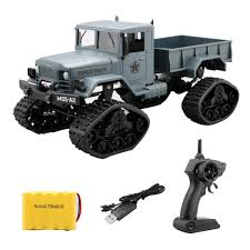 Yezijin Remote Control Car, RC Military Truck Army 1:16 4WD Tracked ...