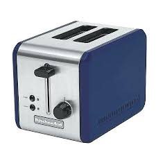 Cobalt Blue Toaster Side By 4 Slice Kettle And