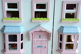 Setting up American Girl Doll House with furniture and Dolls